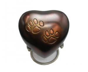 Raku Paws Pet Heart Keepsake Cremation Urn