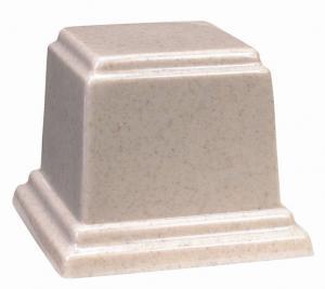 Medium Square Cultured Granite Cremation Urn