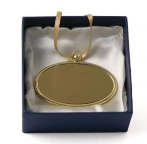 Gold Oval Pendant Nameplate