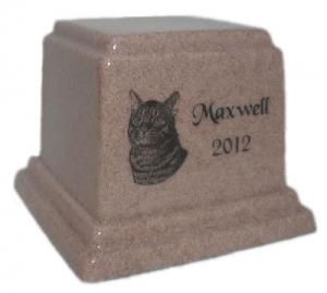 Cultured Granite Pet Cremation Urn - 14 Colors