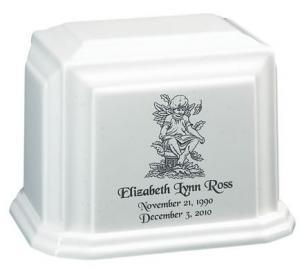 Garden Angel Cultured Granite Cremation Urn