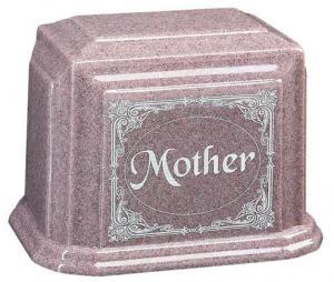 Beloved Mother Cultured Granite Cremation Urn