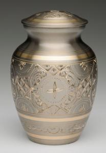 Large Platinum and Gold Pet Cremation Urn