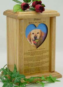 Heart Photo Rainbow Bridge Pet Cremation Urn