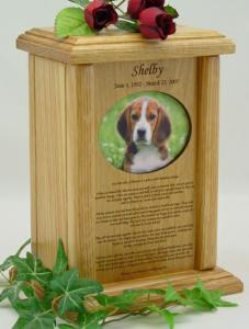 Oval Photo Rainbow Bridge Pet Cremation Urn
