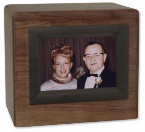 Companion Photo Wood Cremation Urn