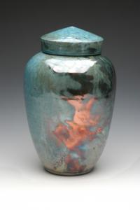 Imperial Raku Cremation Urn