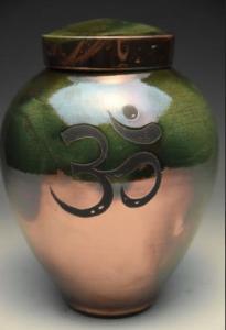 Om Raku Cremation Urn
