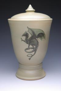 Gothic Dragon Cremation Urn