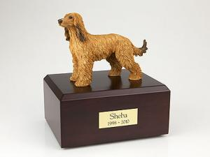 Afghan Hound yellow Standing Dog Figurine Cremation Urn