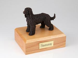 Afghan Hound Bronze Standing Dog Figurine Cremation Urn