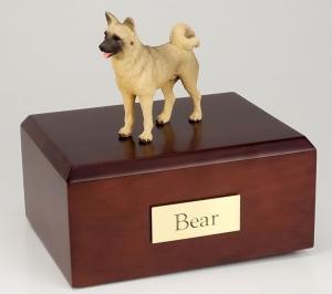 Akita Fawn Standing Dog Fawn Figurine Cremation Urn