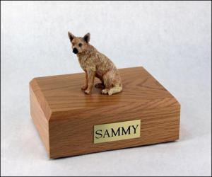 Australian Cattle Dog Red Sitting Dog Figurine Cremation Urn
