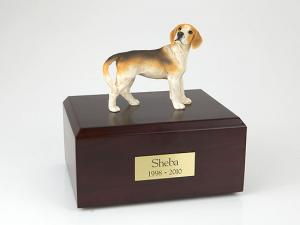 Beagle Black-Yellow-White Standing Dog Figurine Cremation Urn