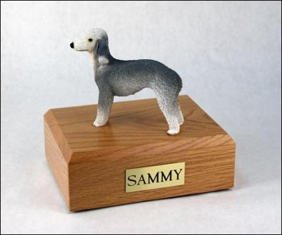 Bedlington Terrier Standing Dog Figurine Cremation Urn