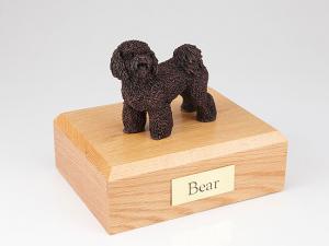 Bichon Frise Bronze Standing Dog Figurine Cremation Urn