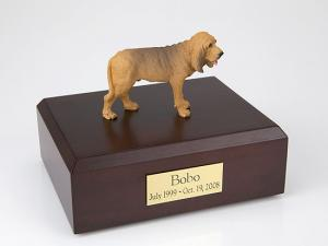 Bloodhound Light Peru Standing Dog Figurine Cremation Urn