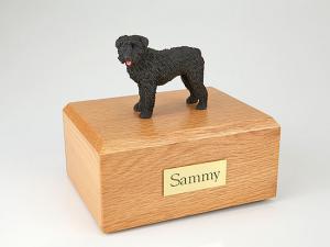 Bouvier Gray Standing Dog Figurine Cremation Urn