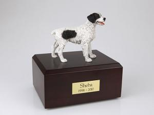 Brittany, Black Standing Dog Figurine Cremation Urn