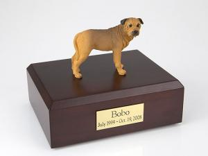 Bull Mastiff Yellow Standing Dog Figurine Cremation Urn