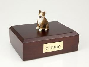 Bull Terrier, Brindle  Sitting Dog Figurine Cremation Urn