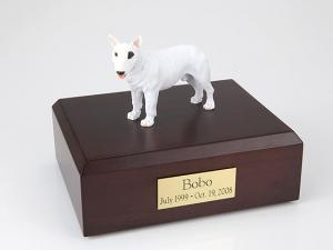 Bull Terrier White Standing Dog Figurine Cremation Urn