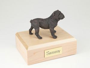 Bulldog  Bronze Standing Dog Figurine Cremation Urn