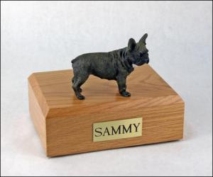 French Bull Standing Dog Figurine Cremation Urn