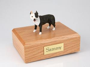 Pit Bull Terrier, Brindle ears Up  Standing Dog Figurine Cremation Urn