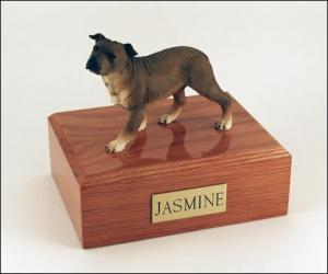 Staffordshire Terrier  Standing  Dog Figurine Cremation Urn