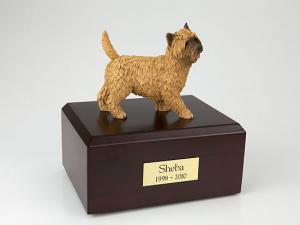 Cairn Terrier BurlyWood  Standing  Dog Figurine Cremation Urn
