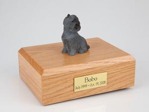 Cairn Terrier Black  Sitting  Dog Figurine Cremation Urn