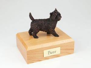 Cairn Terrier Bronze Dog Figurine Cremation Urn