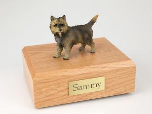 Cairn Terrier Brindle Dog Figurine Cremation Urn