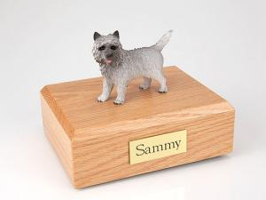 Cairn Terrier Gray Dog Figurine Cremation Urn