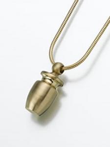 Brass Cremation Urn Keepsake Pendant