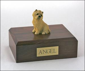 Cairn Terrier Tan Sitting Dog Figurine Cremation Urn