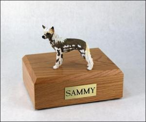 Chinese Crested Dog Figurine Cremation Urn