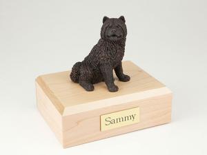 Chow Chow, Bronze Dog Figurine Cremation Urn