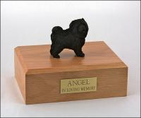 Chow, Black Standing Dog Figurine Cremation Urn