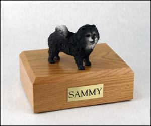 Chow, Blue Standing Dog Figurine Cremation Urn