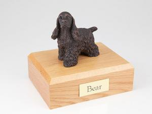 Cocker Spaniel Bronze  Standing Dog Figurine Cremation Urn