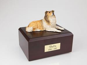 Collie  Dog Figurine Cremation Urn