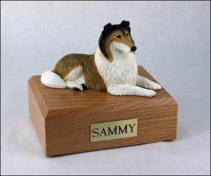 Collie, Sable  Dog Figurine Cremation Urn