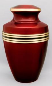 Crimson Brass Cremation Urn