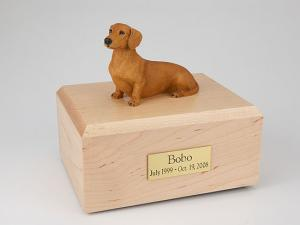 Dachshund, Red/Brown Dog Figurine Cremation Urn