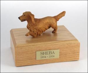 Dachshund, Walking Dog Figurine Cremation Urn