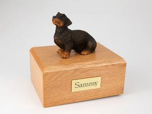 Dachshund, Wire Haired Dog Figurine Cremation Urn