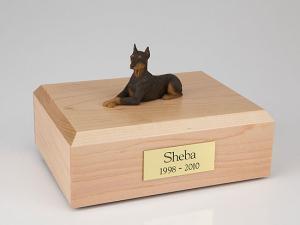 Dog, Doberman, Red - ears up - Figurine Cremation Urn