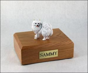 American Eskimo, Min.  Dog Figurine Cremation Urn